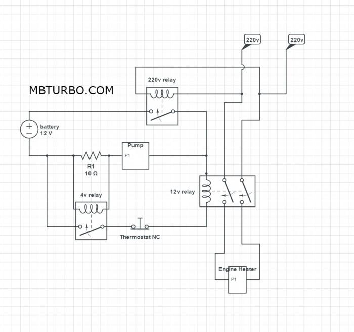 Wiring diagram Engineheater