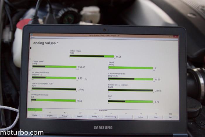 INPA analog values 1 e39 BMW m62