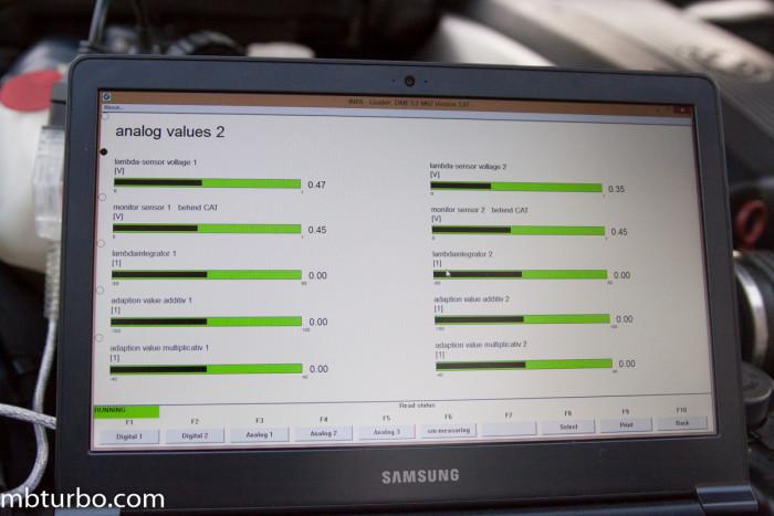 INPA analog values 2 e39 BMW m62